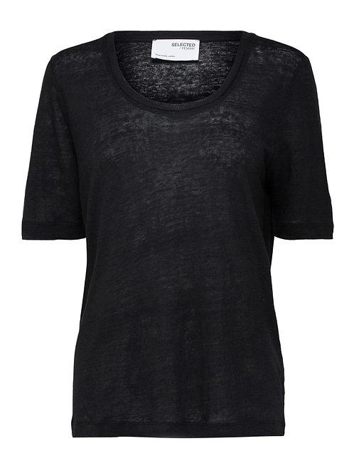 T-shirt linen black