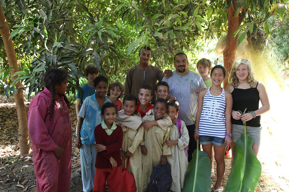 community development in upper egypt and interacting between locals and travelers.