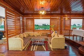 Nile Dahabya sundeck lounge with plenty of space