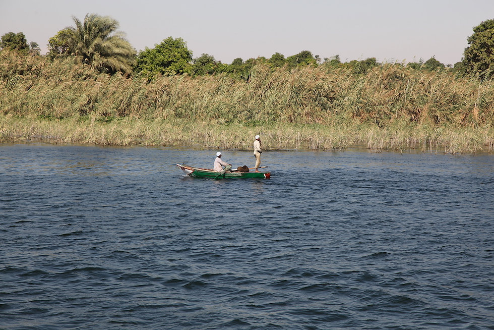 fishing in the nile in upper egypt close to luxor
