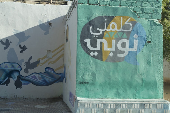 Nubians likes their home exterior to be colorful.