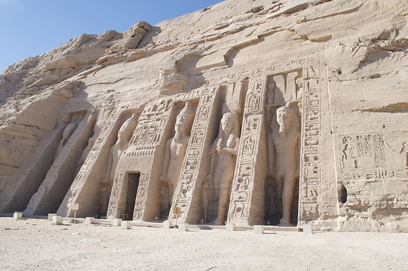 The Small Temple of Abu Simbel. Built 3300 years ago and dedicated to the most beloved of Ramses The Second wives, Queen Nefertari.