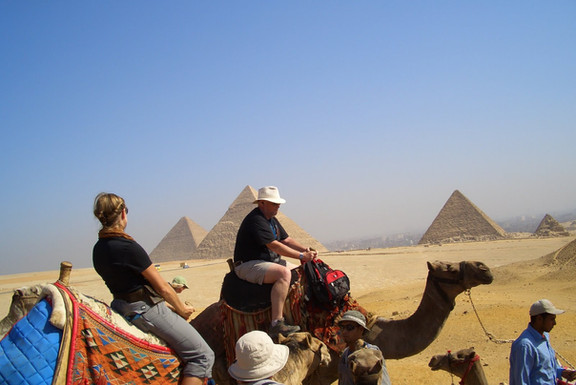 A camel ride is certainly one of the highlights of Giza Pyramids visit.