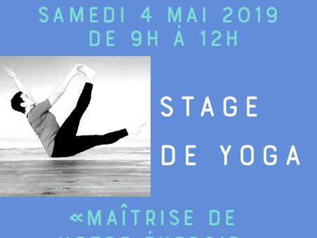 Stage de yoga le samedi 4 mai 2019