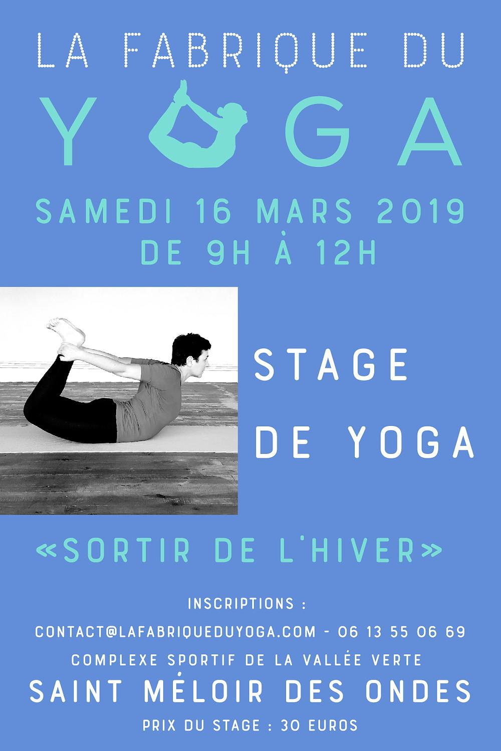 stage yoga 16 mars