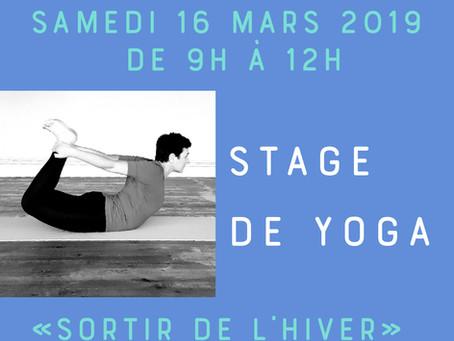 Stage de yoga le samedi 16 mars