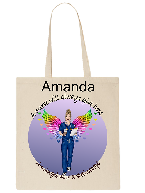 Personalised Nurse tote bag