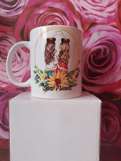 Personalised best friends mug