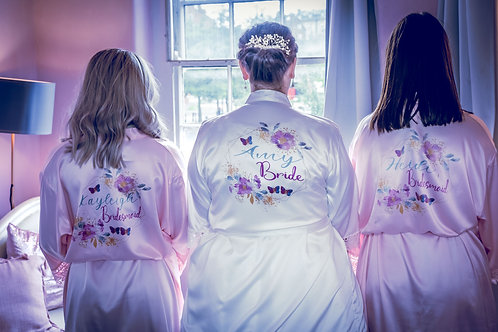 Personalised robes, bridesmaid, mother of the bride, maid of honour