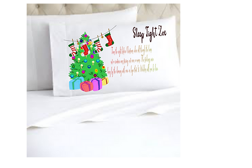Personalised Twas the nigh before Christmas pillow case