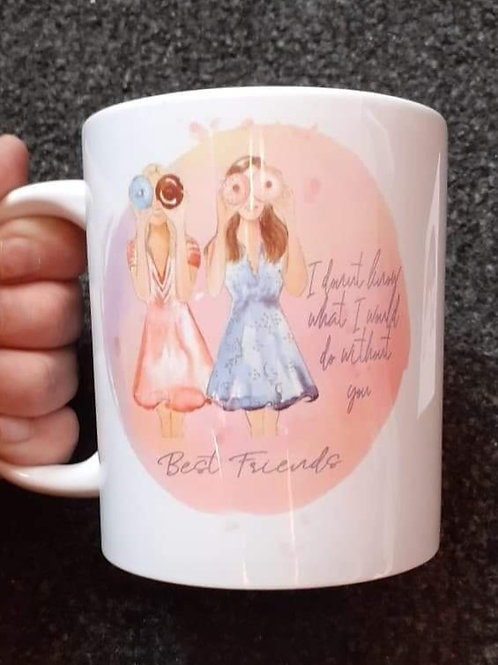 Personalised friends and donut mug