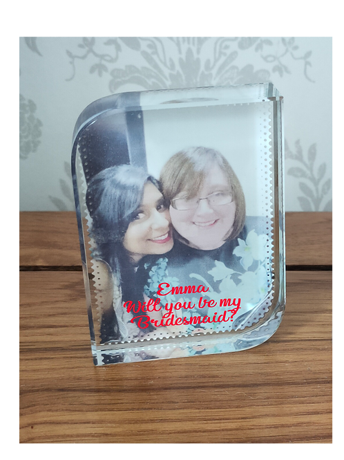 Personalised Glass Photo Block
