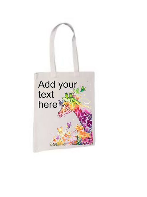 Personalised Giraffe Tote bag
