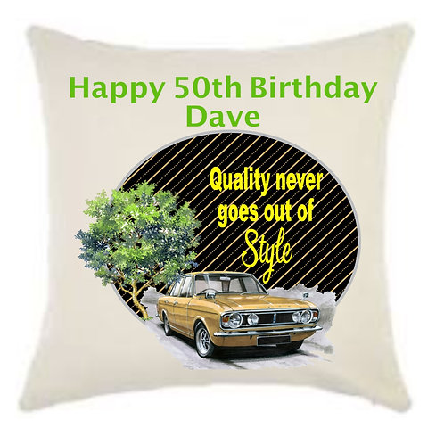 Personalised Classic Car Linen Cushion