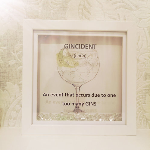 Gincident frame perfect gift for a gin lover
