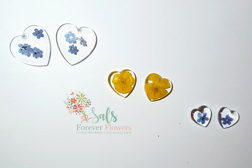 Flower Resin Hearts