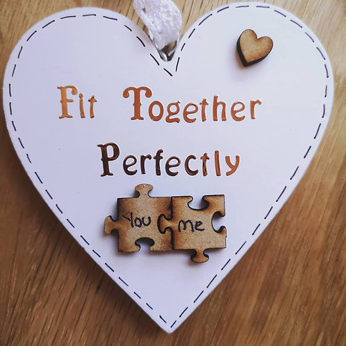 Fit Together Perfectly Heart Plaque