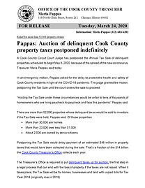 Pappas - Tax Sale postponed indefinitely