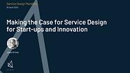 Service design and start-ups