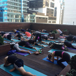 Rooftop Yoga with lululemon athletica