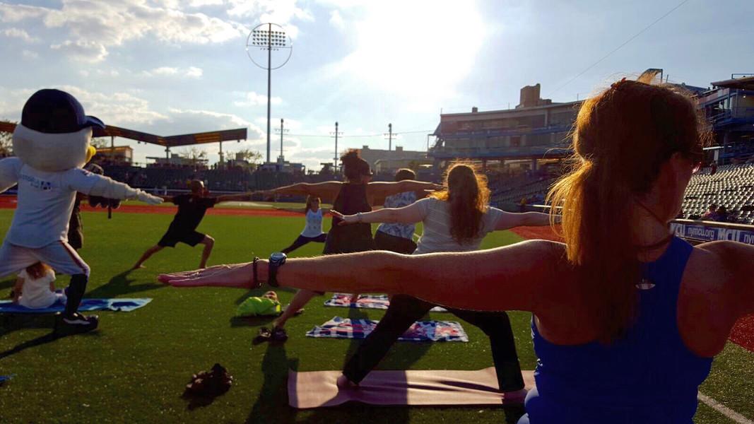 Brooklyn Cyclones Yoga Day