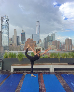 Rooftop Yoga at the James