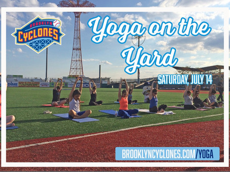 NYC: Yoga on the Field with the Brooklyn Cyclones