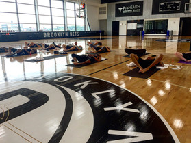 Yoga with the Brooklyn Nets