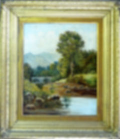 Oil painting cleaned, repaired, restored & back in it's original frame.