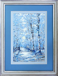 Pastel art picture framed with silver frame, treble mount, pastel mount and anti reflective glass.