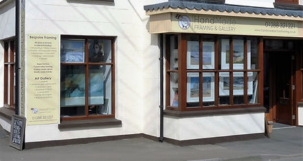Outside of Handmade Framing and Gallery, Kilkhampton, Bude, North Cornwall