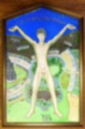 Pentagonal bespoke picture frame.
