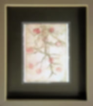 Mono print picture framed with anti reflective glass.