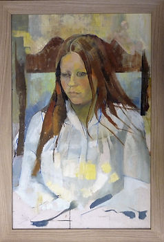 Framed oil portrait. Oil painting picture framing.