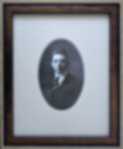 Old photo portrait restored & framed with oval mount.