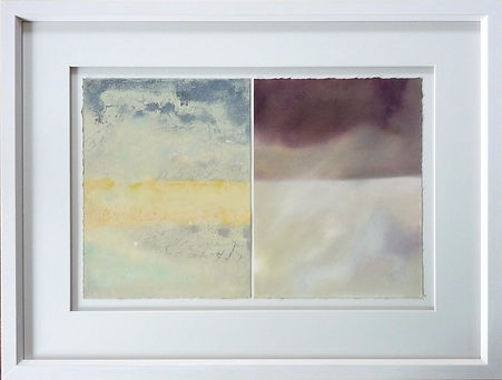 Abstract paintings picture framed to Fine Art Trade Guild conservation level.