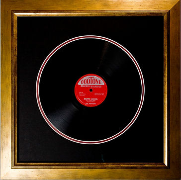 Framed record. Picture framing records.