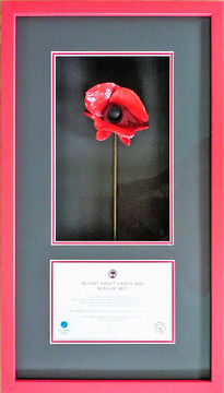 Tower of London poppy picture framed.