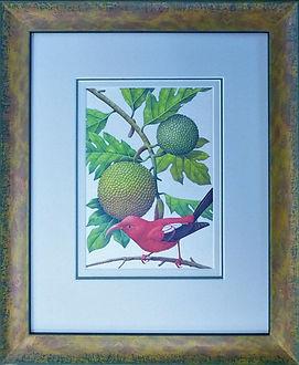 Larson Juhl designer picture frame with treble cotton board mount and anti reflective, anti UV museum glass.