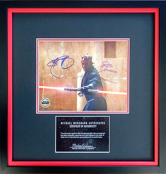 Star Wars film memorabilia picture framing.