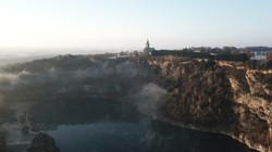 Saint-Malo-de-Phily dans le brouillard