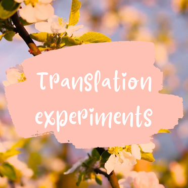 Playing with Tongues: The World of Translation Experiments