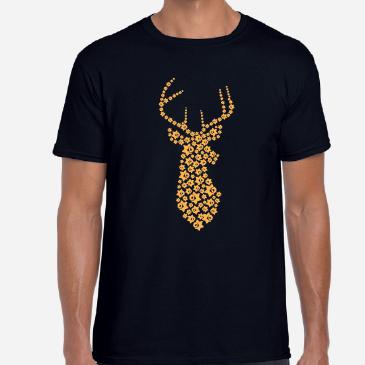 2016 Daffodil Deer Teeshirt - Black V Neck