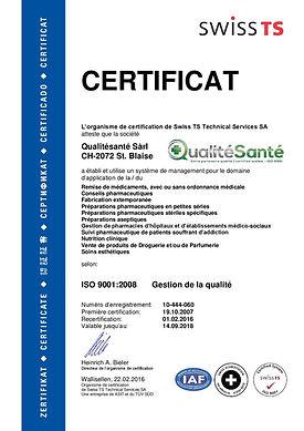Certificat ISO 9001