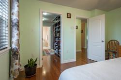 Walk-in closet & hall doors