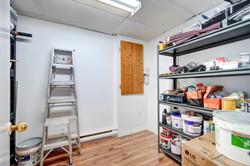 Basement storage room