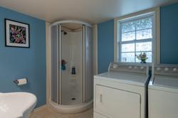 Basement bath & laundry room