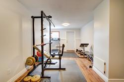 Basement bedroom / gym
