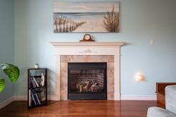 Cozy propane fireplace