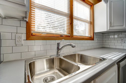 Gleaming counters & sink